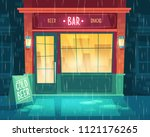 vector background with bar at... | Shutterstock .eps vector #1121176265