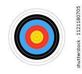 colourfull score target for... | Shutterstock .eps vector #1121180705