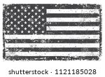 grunge usa flag.distressed... | Shutterstock .eps vector #1121185028