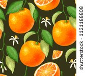 seamless pattern with orange | Shutterstock .eps vector #1121188808