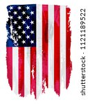 american flag.vintage usa flag. | Shutterstock .eps vector #1121189522