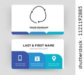 loop arrow  business card...