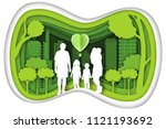 carving design of city urban ... | Shutterstock .eps vector #1121193692