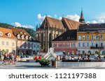 brasov  romania   july 05  2017 ... | Shutterstock . vector #1121197388