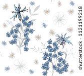 blossom floral seamless pattern....   Shutterstock .eps vector #1121199218