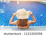 backside of beautiful girl... | Shutterstock . vector #1121203358