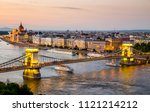 chain bridge and parliament in... | Shutterstock . vector #1121214212