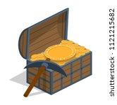 isometric 3d vector... | Shutterstock .eps vector #1121215682