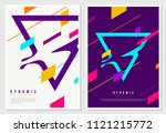 futuristic dynamic poster... | Shutterstock .eps vector #1121215772