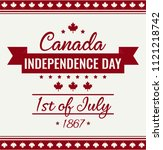 canada day card or background.  | Shutterstock .eps vector #1121218742