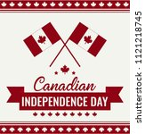 canada day card or background.  | Shutterstock .eps vector #1121218745