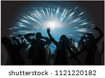 dancing people silhouettes.... | Shutterstock .eps vector #1121220182