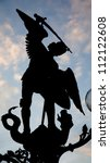 Gent   Silhouette Of Statue Of...