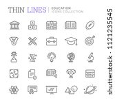 collection of education thin... | Shutterstock .eps vector #1121235545