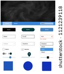 light blue vector wireframe kit ...