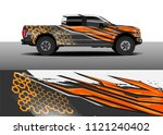truck and car graphic...   Shutterstock .eps vector #1121240402
