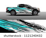 truck and car graphic... | Shutterstock .eps vector #1121240432