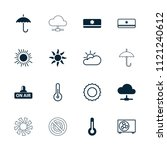 climate icon. collection of 16... | Shutterstock .eps vector #1121240612