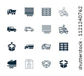 deliver icon. collection of 16... | Shutterstock .eps vector #1121240762