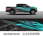 truck and car graphic... | Shutterstock .eps vector #1121242058