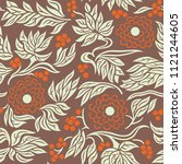 seamless floral pattern... | Shutterstock . vector #1121244605