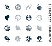 geography icon. collection of... | Shutterstock .eps vector #1121246846