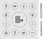 electricity icon. collection of ... | Shutterstock .eps vector #1121247866