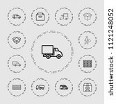 deliver icon. collection of 13... | Shutterstock .eps vector #1121248052