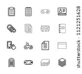 pad icon. collection of 16 pad... | Shutterstock .eps vector #1121251628