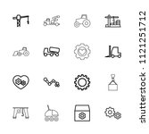 machinery icon. collection of... | Shutterstock .eps vector #1121251712