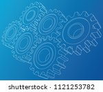gear wheel. vector rendering of ... | Shutterstock .eps vector #1121253782
