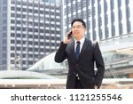 businessman  ceo in suit and... | Shutterstock . vector #1121255546