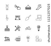 build icon. collection of 16... | Shutterstock .eps vector #1121257025