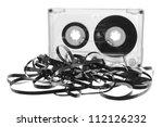 Cassette Tape On White...