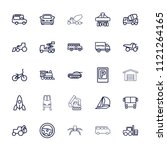 vehicle icon. collection of 25... | Shutterstock .eps vector #1121264165
