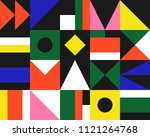 trendy geometric elements... | Shutterstock .eps vector #1121264768