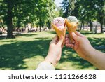 first person point of view. two ...   Shutterstock . vector #1121266628