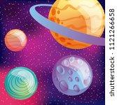 solar system planets moon... | Shutterstock .eps vector #1121266658