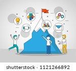 people teamwork concept | Shutterstock .eps vector #1121266892