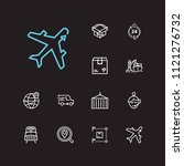 carrying icons set. logistics... | Shutterstock . vector #1121276732