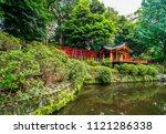 nezu jinja shrine   the famous... | Shutterstock . vector #1121286338