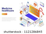medicine and healthcare modern... | Shutterstock .eps vector #1121286845