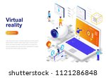 virtual augmented reality... | Shutterstock .eps vector #1121286848