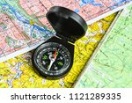 compass and map. navigation... | Shutterstock . vector #1121289335