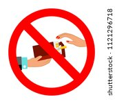 no cigarettes sign red circle... | Shutterstock .eps vector #1121296718
