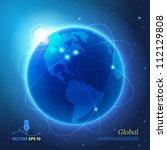 global communication | Shutterstock .eps vector #112129808