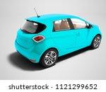 modern blue electric car for...   Shutterstock . vector #1121299652