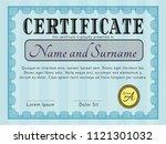 light blue classic certificate... | Shutterstock .eps vector #1121301032