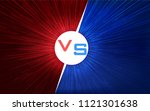versus screen design. red and... | Shutterstock .eps vector #1121301638