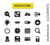 user icons set with zoom out ...